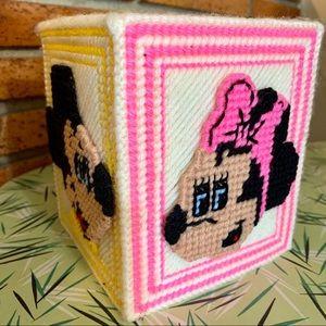 Vintage Disney Tissue Cover Box Plastic Canvas